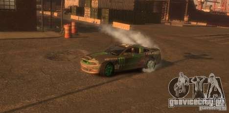 Ford Mustang Monster Energy 2012 для GTA 4 вид сзади
