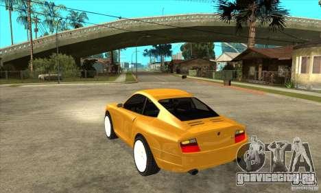 GTA IV Comet для GTA San Andreas вид сзади слева