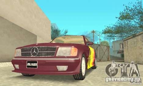 Mercedes-Benz W126 560SEC для GTA San Andreas двигатель