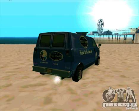 BUGSTARS Burrito from GTA IV для GTA San Andreas вид сзади слева