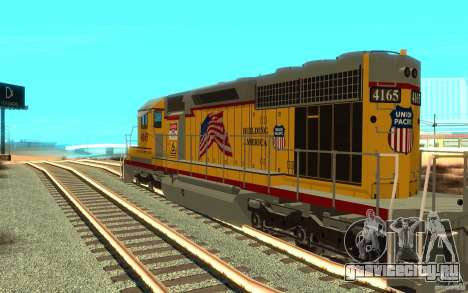 SD 40 Union Pacific Building America для GTA San Andreas вид справа