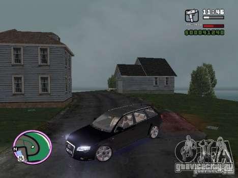 Audi A4 avant 3.2 QUATTRO для GTA Vice City вид сзади слева