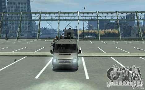 Ford Transit 2011 для GTA 4 вид сзади