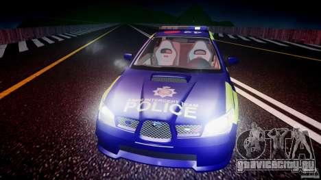 Subaru Impreza WRX Police [ELS] для GTA 4 двигатель