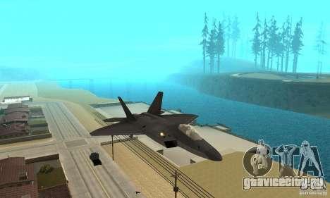 F-22 Black для GTA San Andreas вид сзади