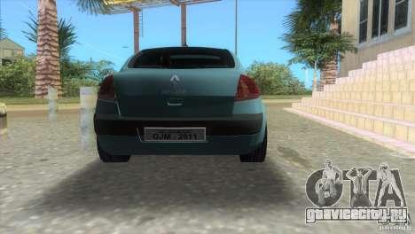 Renault Megane Sedan для GTA Vice City вид слева