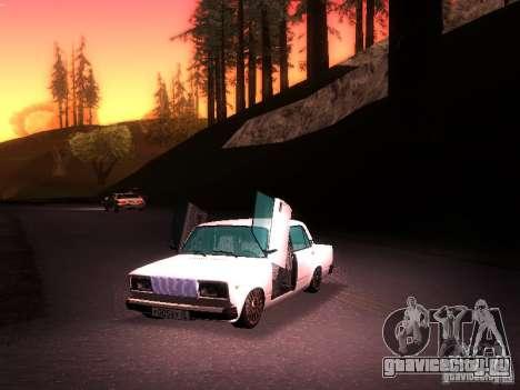 ВАЗ 2107 Lambo для GTA San Andreas вид справа