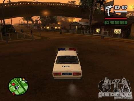 DYP 2107 police для GTA San Andreas вид сзади слева