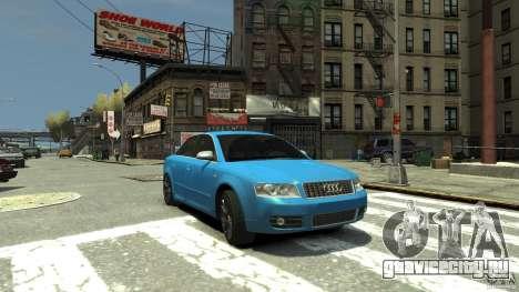Audi S4 2000 для GTA 4 вид сбоку