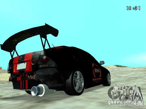 Toyota Altezza NKS Drift для GTA San Andreas вид сзади слева