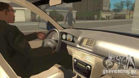 Hyundai Sonata NF для GTA San Andreas вид изнутри