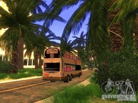 Volvo B10TL from Hong Kong для GTA San Andreas вид сзади слева