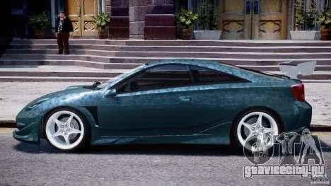 Toyota Celica Tuned 2001 v1.0 для GTA 4 вид сзади слева