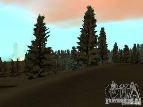 Зимняя трасса для GTA San Andreas седьмой скриншот