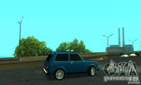 ВАЗ 21213 НИВА FBI для GTA San Andreas вид слева