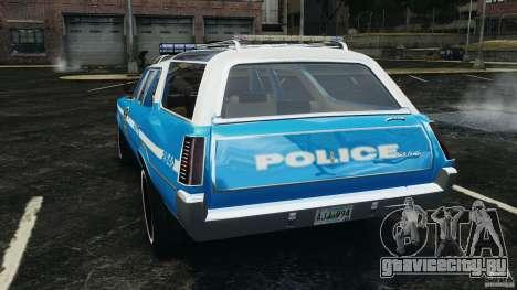 Oldsmobile Vista Cruiser 1972 Police v1.0 [ELS] для GTA 4 вид сзади слева