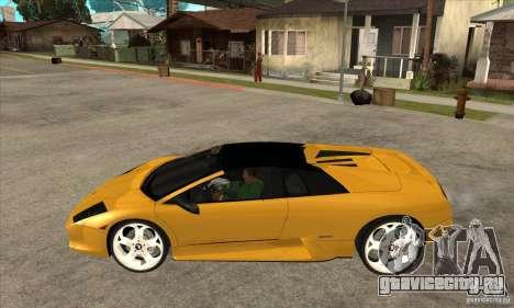 Lamborghini Murcielago Roadster Final для GTA San Andreas вид слева