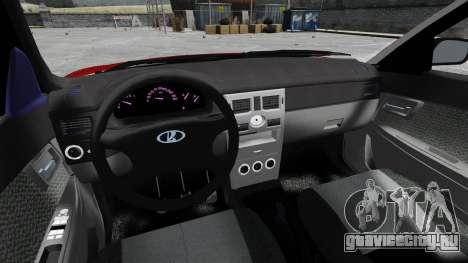 ВАЗ-2172 Приора Люкс для GTA 4 вид сзади
