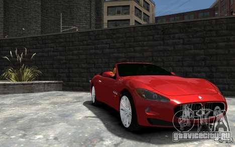 Maserati GranCabrio для GTA 4 вид сзади
