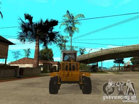 Grader для GTA San Andreas вид сзади слева