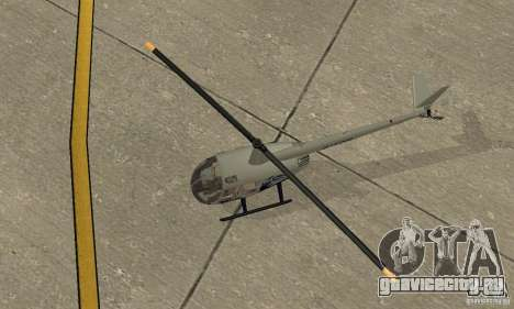 Robinson R44 Raven II NC 1.0 Скин 4 для GTA San Andreas вид сзади