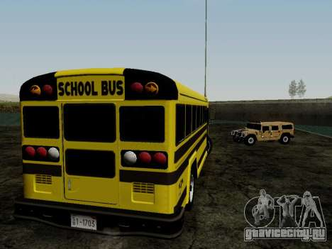 International Harvester B-Series 1959 School Bus для GTA San Andreas вид справа
