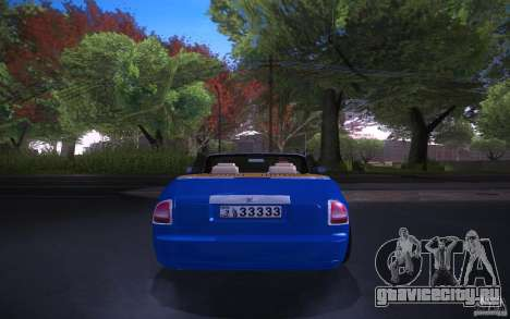 Rolls-Royce Phantom Drophead Coupe для GTA San Andreas вид сзади слева