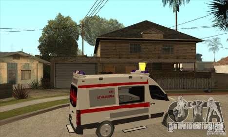 Volkswagen Crafter Ambulance для GTA San Andreas вид справа