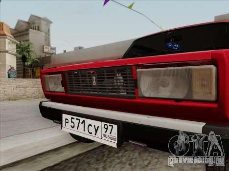 ВАЗ 21054 для GTA San Andreas вид справа