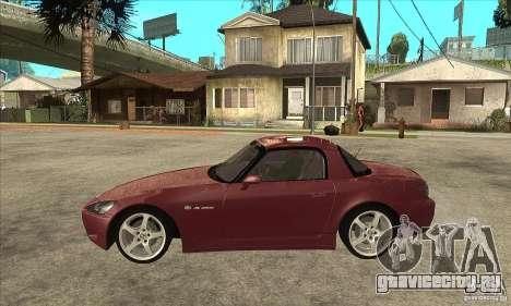 Honda S2000 для GTA San Andreas вид слева