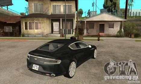 Aston Martin Rapide 2010 для GTA San Andreas вид справа