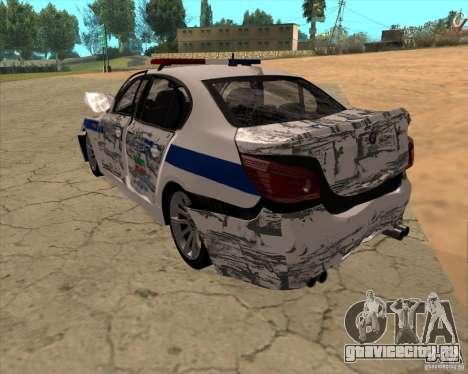 BMW M5 E60 ДПС для GTA San Andreas вид снизу