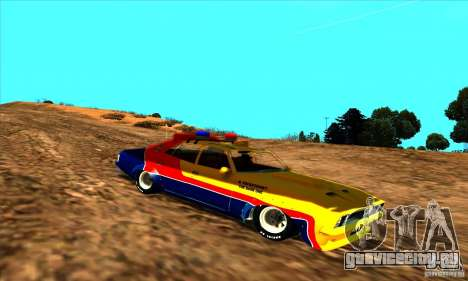 Ford Falcon 351 GT Interceptor Mad Max для GTA San Andreas вид сзади слева