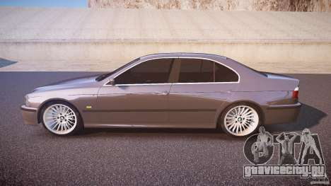 BMW 530I E39 stock white wheels для GTA 4 вид слева