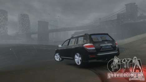 Toyota Highlander 2012 v2.0 для GTA 4 вид изнутри