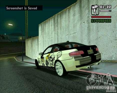 BMW M3 (E92) 2007 для GTA San Andreas вид слева