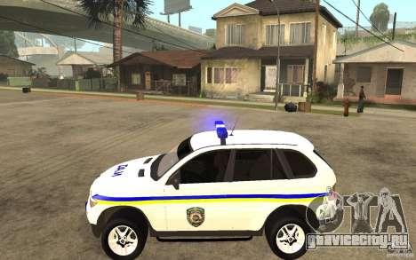BMW X5 ДАІ для GTA San Andreas вид слева