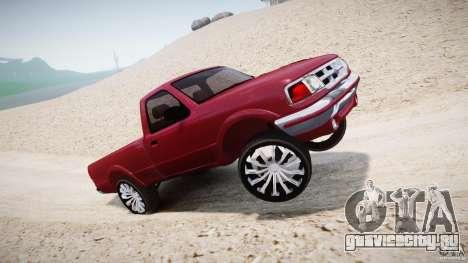 Ford Ranger для GTA 4 вид снизу