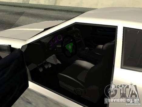 Elegy 29-13 для GTA San Andreas вид сзади