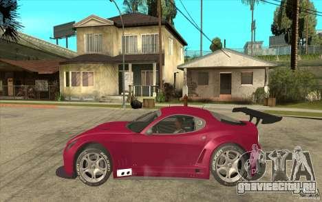 Alfa Romeo 8C GT3 RSX для GTA San Andreas вид слева