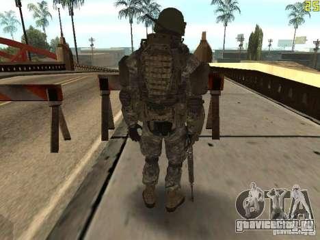 Боевой солдат из CoD:Mw2 для GTA San Andreas третий скриншот
