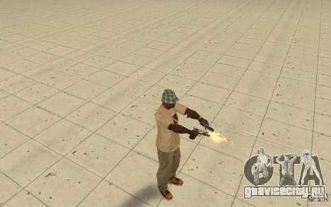 Разные стили стрельбы из пистолета 9mm для GTA San Andreas