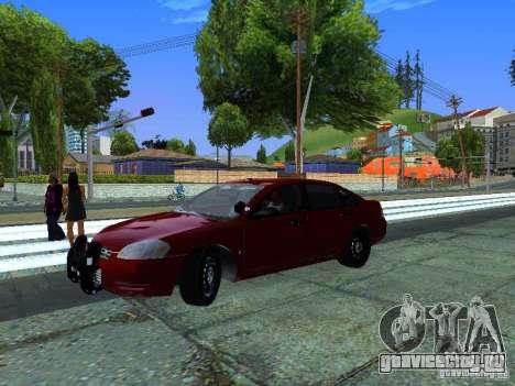 Chevrolet Impala Unmarked для GTA San Andreas вид сзади слева