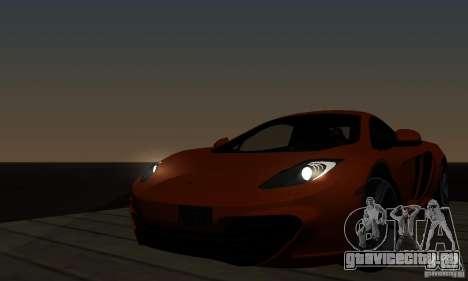 McLaren MP4-12C для GTA San Andreas вид сзади слева
