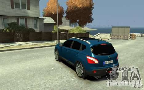 Nissan Qashqai 2010 для GTA 4 вид сзади слева
