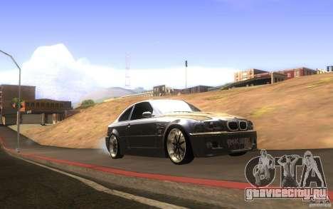 BMW M3 E46 V.I.P для GTA San Andreas вид изнутри