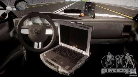 Dodge Charger NYPD 2012 [ELS] для GTA 4 вид справа