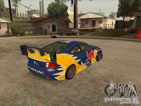Pontiac GTO Red Bull для GTA San Andreas вид справа