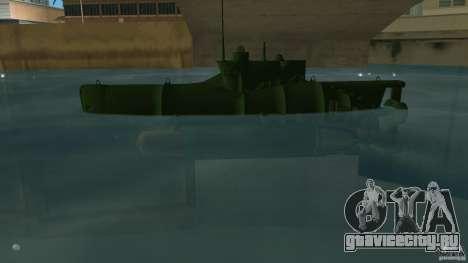Seehund Midget Submarine skin 1 для GTA Vice City вид слева