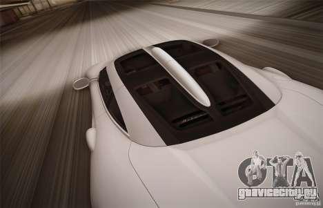 Spyker C8 Aileron для GTA San Andreas вид сверху